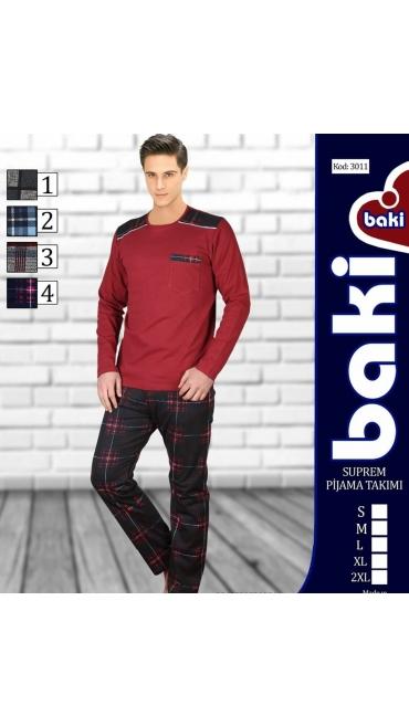 pijama barbati Baki Suprem S-2XL 100% bumbac 5/set