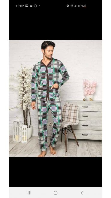 pijama barbati Backy batal 100%bbc l-3xl 4/set