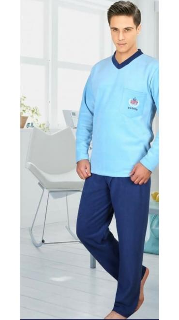 pijama barbati cocolino 100% micro, m-2xl 4/set