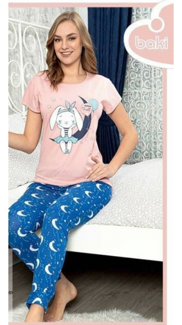 pijama dama baki 100% bbc s-2xl 5/set