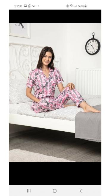 pijama dama baki 100%bbc m-2xl 4/set