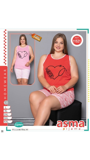 pijamale  dama l-4xl 5/set