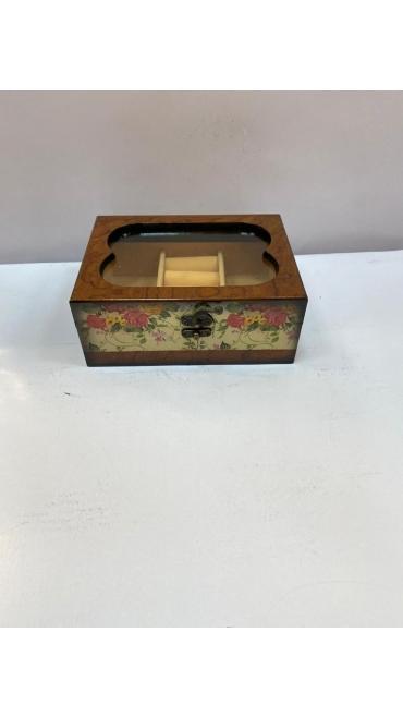 cutie bijuterii cu oglinda 2/set